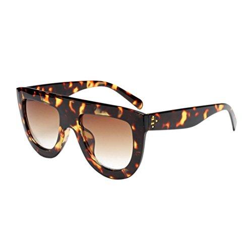 Occhiali da sole da donna uomo polarizzati - beautyjourney occhiali da sole donna rotondi vintage sunglasses cat eye - donna unisex fashion frame colori acetato telaio occhiali da sole uv (b)