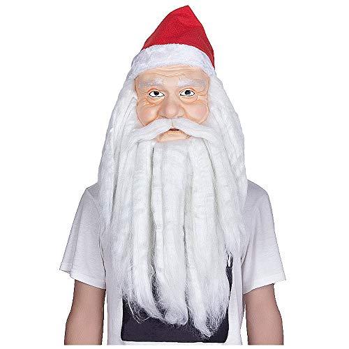YaPin Weihnachtsmann Maske Cosplay Stage Performance Latex Maske mit Rotkäppchen