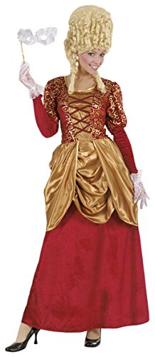 Widmann marchesa in velluto bordeaux vestito costumi completo adulto party 613, multicolore, taglia s 8003558718917