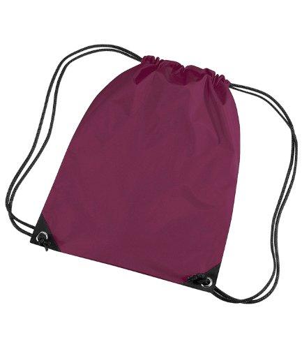bagbase-budget-turnbeutel-wasserabweisend-11-liter-einheitsgreviolett-burgunderrot