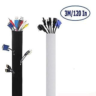 Funktional Neopren Klettverschluss Kabelschlauch,Vivibel 3M×13.5cm Flexible Einstellbare Kabelhülle Kabelkanal Schutz-System [ schützt bündelt und organisiert Kable ] für TV, Computer,DVD,Heimkino