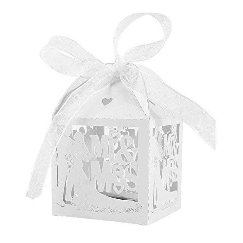 Anyasen Gastgeschenk Box Geschenkbox Hochzeit Kartonage Süßigkeiten Kartons Bonbon Schachtel Bonboniere Box Hochzeit Party Gastgeschenke Dekoration 100 Stück