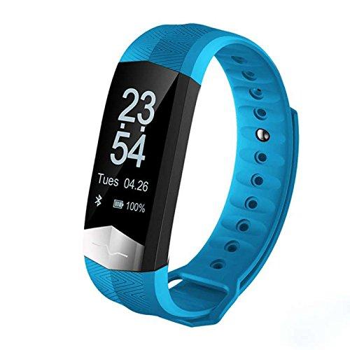 Smart Fitness Armband Bluetooth Sport Aktivitätstracker, Aktivitätstracker, Schrittzähler, Kalorienzähler, Schlaf-Monitor,Low Power Consumption Outdoor Sports Multifunktions Smart uhr,für iPhone IOS und Android Smartphones