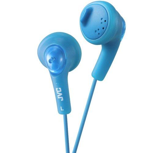 JVC Gumy - Auriculares in-ear para el iPod, iPhone, MP3 y smartphone (imán de neodimio, cable de 1 m, 15 Hz - 20 KHz), color azul