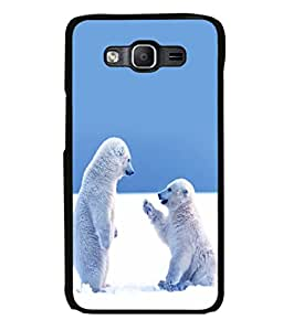 printtech Snow Polar Bears Back Case Cover for Samsung Galaxy On5 Pro