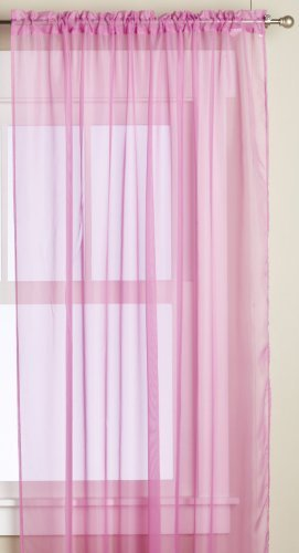 Editex Home Textiles Monique Sheer Window Panel, 55 by 63-Inch, Fuchsia by Editex Home Textiles - Sheer Fuchsia