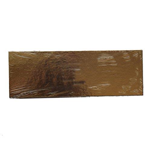 gateaux Carte/Mince gâteau Cartes - Doré 60 * 40 cm X 1,2 mm d'épaisseur (Lot de 10 Cartes de Fin)