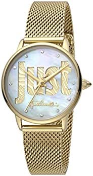Just Cavalli Logo Women's Mother of Pearl Dial Stainless Steel Analog Watch - JC1L116M