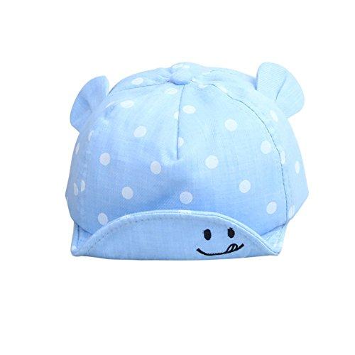 Dot Bébé Filles Garçons Casquettes D'été Mignon et de la Mode Chapeau de Baseball Casquette 0-2 ans (bleu)