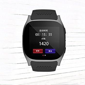 T8 Bluetooth Sport Smartwatch KeepGoo Pantalla Táctil Simslot Monitor Podómetro Reproductor de Música Recordatorio de Llamada para iPhone Android