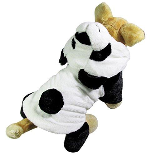 Niedlicher Panda-Hundehaustier-Kapuzenpulli-Kleidung Halloween-Hundekostüm plus Größen-Klage-Teddybär, der oben Kleidungs-Kleidungs-Kleid XS-XL (Hund Panda Kostüme)