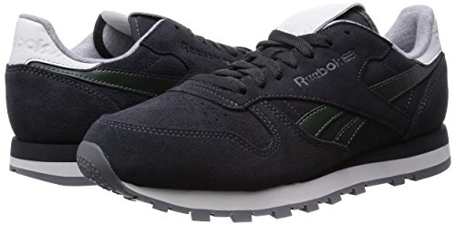 Reebok Classic Leather Suede, Baskets Basses Homme Gris (gravel/darkest Olive/white/black/shark)