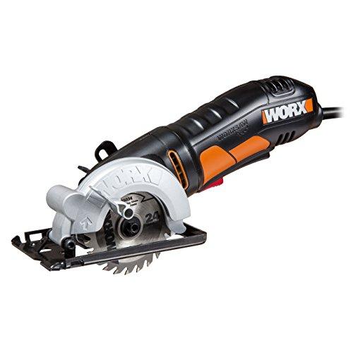 WORX WX423 WORXSaw Kreissäge 400W zum Sägen von Holz, Metall, PVC & Keramik - Kompakte Tauchsäge für präzise Schnitte & ideal für Parallelschnitte - 85mm Sägeblatt