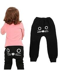 Koly 2-7 años niño niños otoño y primavera harén pantalones dibujos animados gato bebé pantalones de moldeo