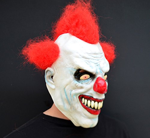 Unheimlich gruselig Halloween Clown böse Kostüm Latex-Maske - Rothaariger (Böse Clowns Gruselig)
