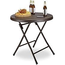 Gartentisch klappbar kunststoff  Suchergebnis auf Amazon.de für: Kunststoff-Gartentisch, braun