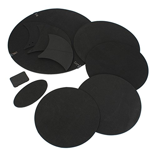 Snare Drum Sound Off Mute Schalldämpfer Drumming Rubber Practice Pad Set Percussion Bass Quiet - Bass Drum Mute