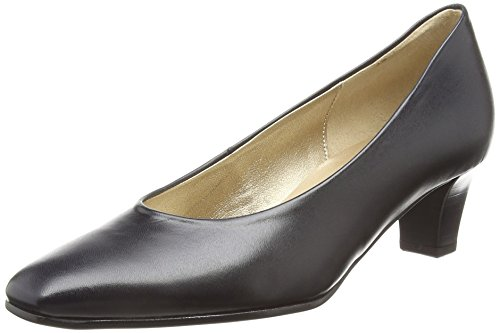 Gabor Shoes Competition, Damen Pumps, Blau (Blaues Leder), 44 EU (9.5 UK) Peep Toe Platform Pump Heel