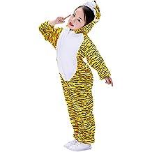 39526c6aa Amosfun Traje de Pijamas de Animales para niños Tiger Onesie Cosplay Traje  de Tigre para niños