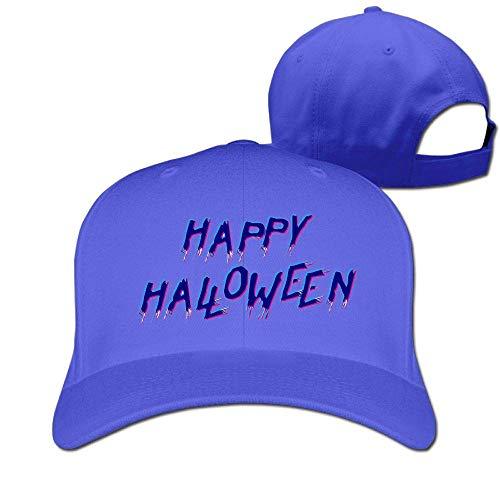 ton Hat Adjustable Plain Cap, Happy Halloween Plain Baseball Cap Adjustable Size Curved Visor Hat ()