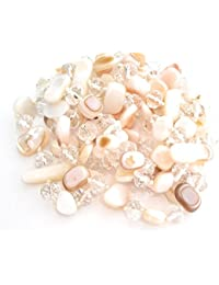 d2ea7831598f BRANDELIA Collares Largos de Colores Mujer Bisutería de Nácar y Perlas de  Cristal