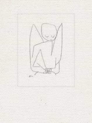 """Leinwandbild auf Keilrahmen: Paul Klee, \""""Vergesslicher Engel\"""", 30 x 40"""