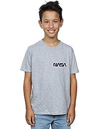 Absolute Cult NASA Hombre Modern Logo Camiseta