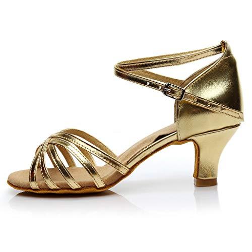 Tanzschuhe Damen Dtandard und Latein,Frau Silber Schwarz Dance Schuhe,Peep Toe Salsa Tango Sandalen Sandaletten Modern Ballschuhe High Heel Sommersandalen Brautschuhe