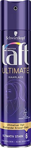 Schwarzkopf 3 Wetter Taft Haarlack Ultimate ultimativ starker Halt 6, 5er Pack (5 x 250 ml)