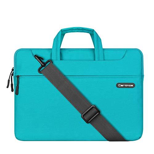 PALOA Womens Multifunktions-15-Zoll-Laptop-Rucksack-Kurier-Tasche Tote Waterproof Business College-Reise Bag,Blue-M:33x21x4cm(LxHxW)
