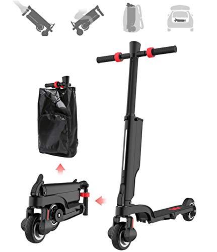 Elektroroller zusammenklappbare Erwachsenen tragbare Aluminiumlegierung Roller Lithium-Batterie Elektro-Fahrrad mit Bluetooth-Lautsprecher und USB-Aufladung, 5,5-Zoll-Reifen, 15-20 km Reichweite (Schlamm-reifen 17)