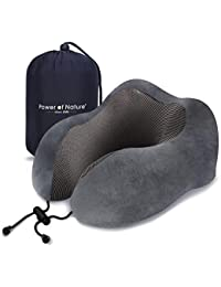 Power Of Nature PON Memory Foam Reisen Kissen U Geformte Hals Kissen Mit Kopf und Hals unterstützung 360 perfekt für Flugzeug - Auto - nutzung zu Hause (Dark Gray)