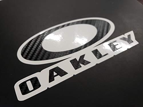 SUPERSTICKI Oakley Carbon Auto Aufkleber Tuning ca 20cm Autoaufkleber Hochleistungsfolie für alle glatten Flächen UV und Waschanlagenfest Tuning Profi Qualität