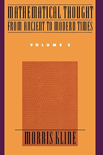 Mathematical Thought from Ancient to Modern Times: Mathematical Thought from Ancient to Modern Times, Volume 2: Vol 2 por Morris Kline