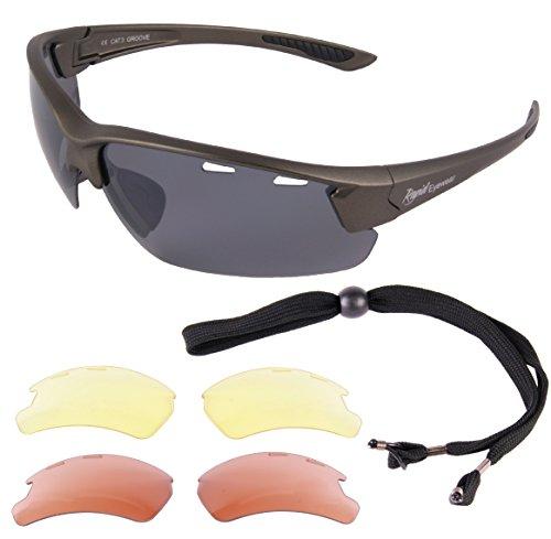 Rapid Eyewear 'Aurora' SONNENBRILLE FÜR PILOTEN mit Wechselgläser. UV schütz 400 Pilotbrille. Für Herren und Damen. Fliegerbrille, die den Empfehlungen der Luftfahrtbehörde Entspricht