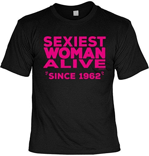 T-Shirt Sexiest Woman Alive Since 1962 T-Shirt zum 55. Geburtstag Geschenk zum 55 Geburtstag 55 Jahre Geburtstagsgeschenk 55-jähriger Schwarz