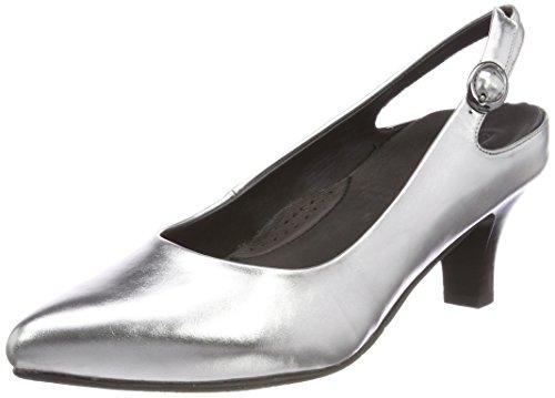 Gerry Weber Shoes Damen Caravella 02 Slingback Pumps Silber, 37.5 EU