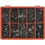 Kennedy Gewindeschrauben-Set Senkkopf Innensechskant schwarz metrisch DIN7991 410-teilig