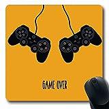 Luancrop Tapis de Souris Gamer Orange Joystick Plat Creative Deux Boîte à Distance...