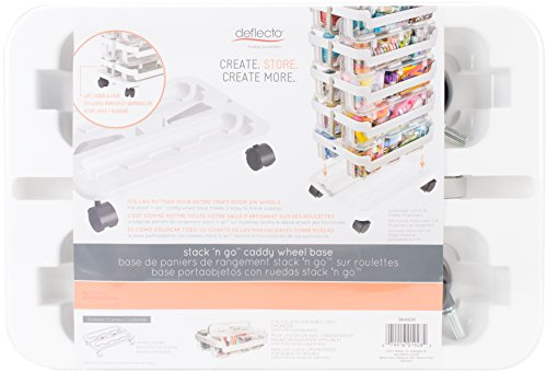 (Deflecto Stack 'n Go Caddy Radstand, Craft Organizer, kompatibel mit DEFLECTO Schreibtisch Organizer Caddy, Weiß, 40,6cm W x 31/10,2cm H x 27,9cm D (29443cr))