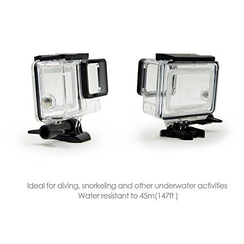 iTrunk Waterproof Protective Housing Case with Quick Release Bracket & Thumbscrew for GoPro Hero 2018 Hero 6 Hero 5 Black Action Camera