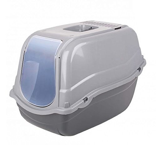 click-secure-pet-cat-litter-tray-toilet-box-grey