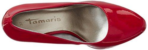 Tamaris22448 - Scarpe con tacco chiuse donna Rosso (CHILI PATENT 520)