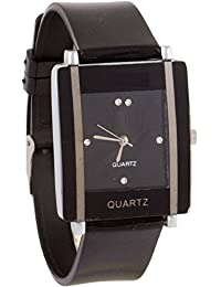 Aum New Trendy Look Casual Black Square Dial Women's Analog Watch - For Girls