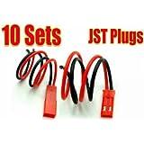 TOOGOO(R) 10 pares de Coenctor JST RC Bateria Lipo Macho/Hembra