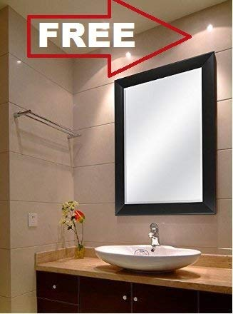 Creative Arts N Frame Sober Black Fiber Wood Wall Mirror || Size - 15 X 21 Inch || Solid Premium Black Water Resistant Synthetic Fiber Wood Made ||