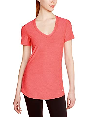 Under Armour Perfect Pace T-Shirt de running Femme Pink Shock/Pink Shock/Reflective FR : S (Taille Fabricant : SM)