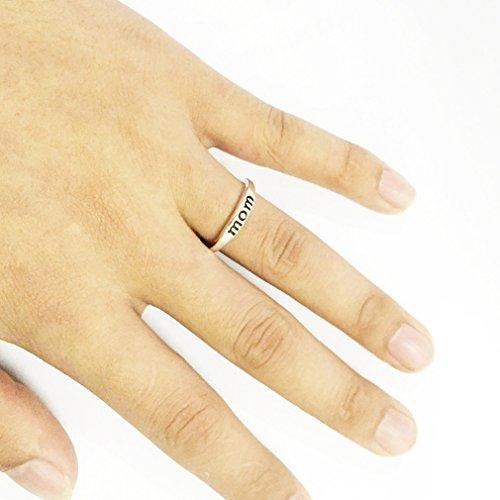 Canvivi Silberring Mutterstag Geschenk Schmuck Mom Ring (Mom Ringe 10 Größe)