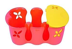 Tigex Casier à Biberons et sa Boîte Accessoires Orange