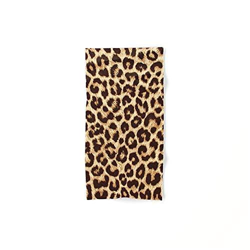 DearLord Leopard Print – klein, leicht und Ultra saugfähig - das perfekte Sporthandtuch, Reisehandtuch, Microfaser-Badetuch, XXL Strandhandtuch, Sauna Microfaser Handtuch